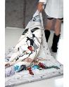 Kocyk Maluszka Kot w Butach 80 x100 - 4 kolory polaru Minky,