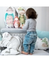 Poduszka Babcia 30x60 cm bawełna i biały Minky