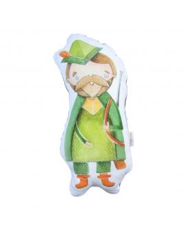 Leśniczy maskotka sensoryczna 25 cm szary Minky