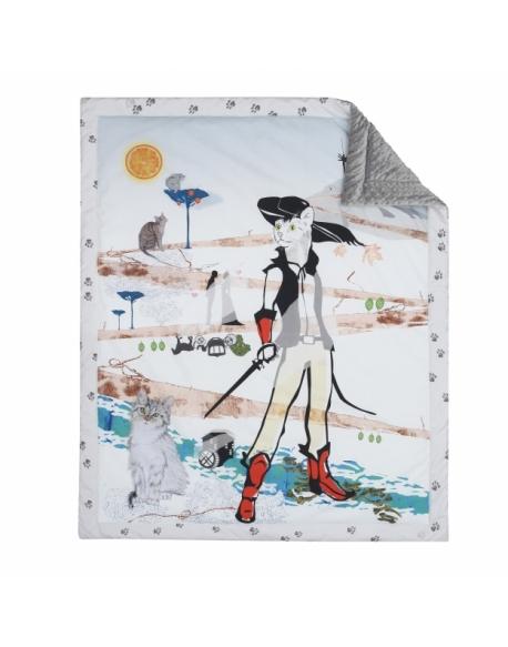 Blanket for preschooler Puss in Boots size 110 x 130 cm