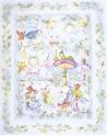Kocyk Maluszka Alicja w Krainie Czarów, 95x115 cm - oryginalne tło