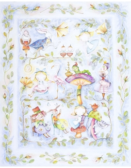 Blanket for Preschooler Alice in Wonderland, size 125x150 cm