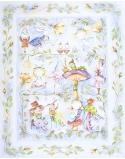 Blanket for Preschooler Alice's Magical World, size 125x150 cm - original background
