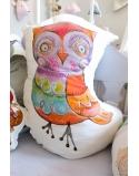 Pillow Owl, 40x60 cm, white