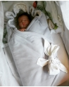 Swaddle, bamboo and cotton, Clocks, size 120x120 cm