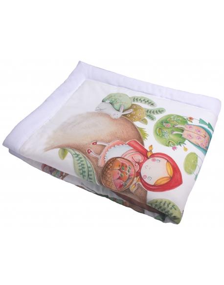 Blanket for Baby Alice in WonderlandPastel Pink, size 95x115 cm