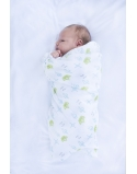 Swaddle bamboo and cotton Royal Insignia, size 120x120 cm