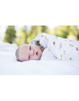 Swaddle, bamboo and cotton Forest Friends size 120x120 cm