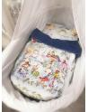 Blanket for Newborn Alice's Magical World 60x75 cm - original background, cotton velvet