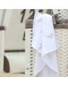Otulacz Bambusowo Bawełniany Zegarki 120x120 cm