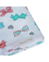 Swaddle, bamboo and cotton, Ribbons, size 120x120 cm