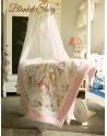 Kocyk Maluszka Alicja w Krainie Czarów Bawełna 100 % pastelowy róż