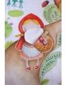 Kocyk Maluszka Czerwony Kapturek, Szary, 95x115 cm