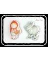 Wilk maskotka sensoryczna 25 cm szary Minky
