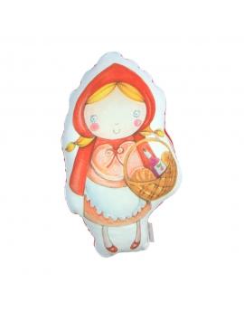 Czerwony Kapturek maskotka sensoryczna 25 cm czerwony Minky