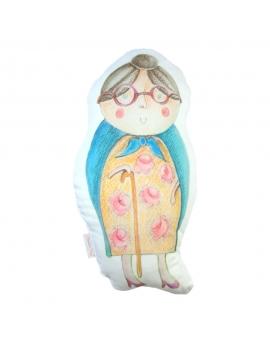 Babcia maskotka sensoryczna 25 cm biały Minky