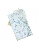 Swaddle, bamboo and cotton Little Red Riding Hood, size 120x120 cm