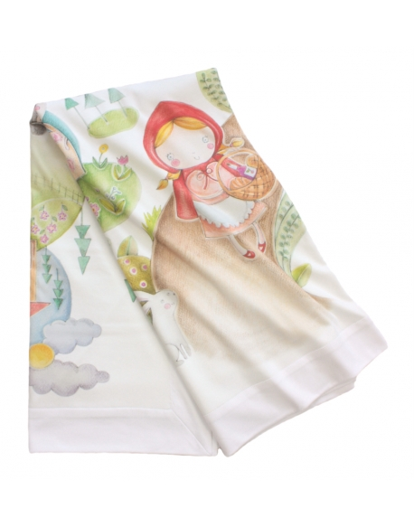 Summer Blanket Alice in Wonderland, size 120x120 cm