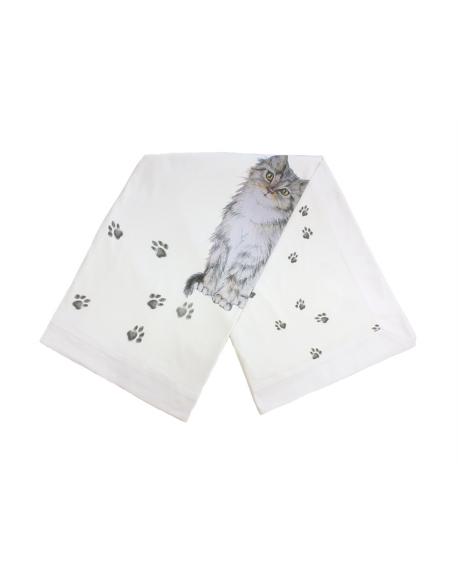 Kocyk letni - Otulacz Kot w Butach, 120x120 cm