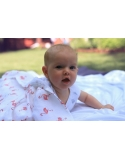 set of 2 muslin blankets Flamingo and Watches 40 % bamboo 60 % cotton